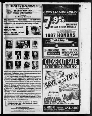 Daily News from New York, New York on January 30, 1987 · 215