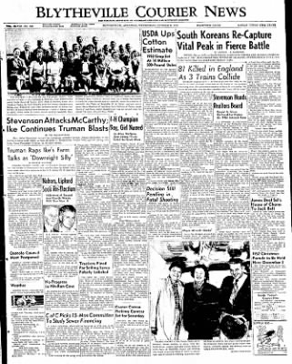 The Courier News from Blytheville, Arkansas on October 8, 1952 · Page 1