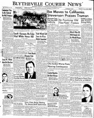 The Courier News from Blytheville, Arkansas on October 9, 1952 · Page 1