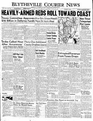 The Courier News from Blytheville, Arkansas on August 24, 1950 · Page 1