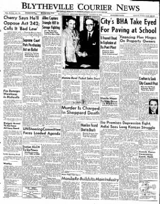 The Courier News from Blytheville, Arkansas on October 15, 1952 · Page 1