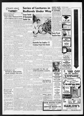 The San Bernardino County Sun from San Bernardino, California on October 15, 1952 · Page 16