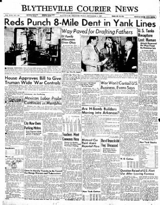 The Courier News from Blytheville, Arkansas on September 1, 1950 · Page 1