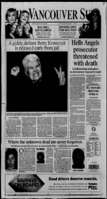 The Vancouver Sun from Vancouver, British Columbia, Canada on January 26, 2001 · 1