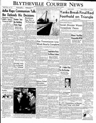 The Courier News from Blytheville, Arkansas on October 18, 1952 · Page 1