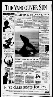 The Vancouver Sun from Vancouver, British Columbia, Canada on July 29, 2000 · 1