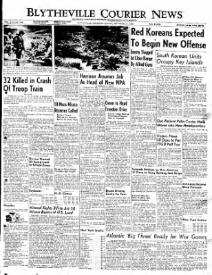 The Courier News from Blytheville, Arkansas on September 11, 1950 · Page 1