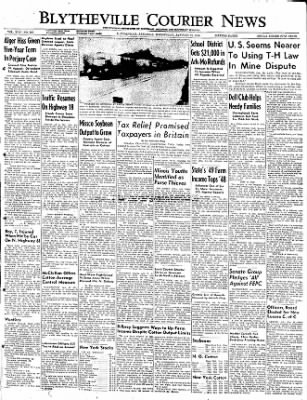 The Courier News from Blytheville, Arkansas on January 25, 1950 · Page 1