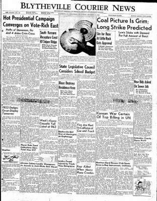 The Courier News from Blytheville, Arkansas on October 22, 1952 · Page 1