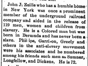 John J. Zuille helped 119 people escape slavery on the Underground Railroad