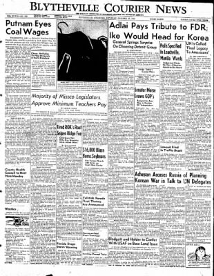 The Courier News from Blytheville, Arkansas on October 25, 1952 · Page 1