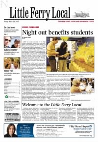 Sample Little Ferry Local front page
