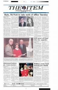 Sample The Item of Millburn and Short Hills front page