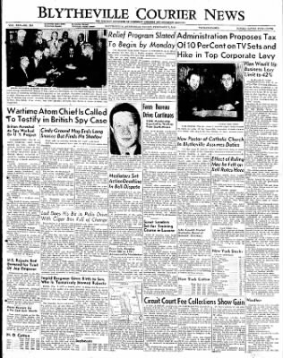 The Courier News from Blytheville, Arkansas on February 3, 1950 · Page 1