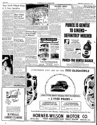 The Courier News from Blytheville, Arkansas on February 8, 1950 · Page 2