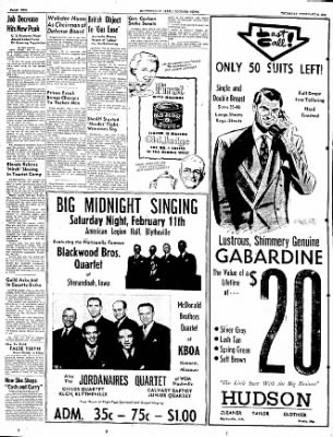 The Courier News from Blytheville, Arkansas on February 9, 1950 · Page 2