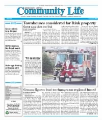 Sample Pascack Valley Community Life front page