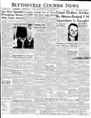 The Courier News from Blytheville, Arkansas on February 11, 1950 · Page 1