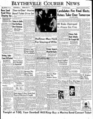 The Courier News from Blytheville, Arkansas on November 3, 1952 · Page 1