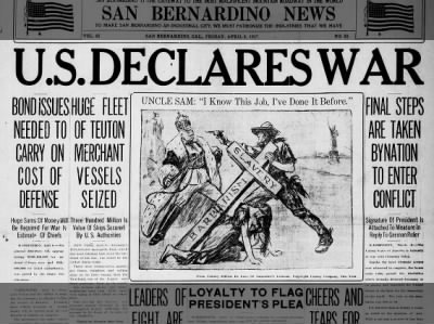 Clip of the Day: US Declares War on Germany enters World War I