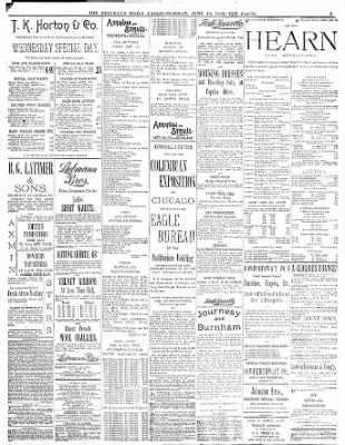The Brooklyn Daily Eagle From Brooklyn New York On June 13 1893