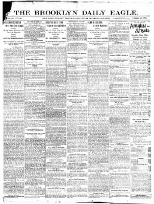The Brooklyn Daily Eagle From Brooklyn New York On March 5 1899