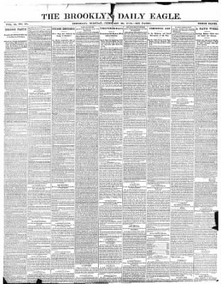 The Brooklyn Daily Eagle from Brooklyn, New York on February 28, 1888 · Page 1