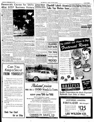 The Courier News from Blytheville, Arkansas on February 21, 1950 · Page 3