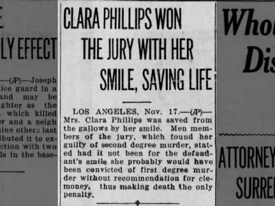 Clip of the Day: Clara Phillips Avoids Death Sentence With Her Smile