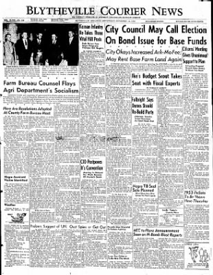 The Courier News from Blytheville, Arkansas on November 12, 1952 · Page 1
