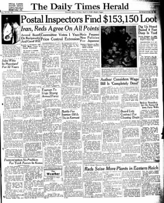 Carrol Daily Times Herald from Carroll, Iowa on April 5, 1946 · Page 1