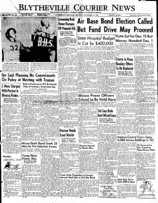 The Courier News from Blytheville, Arkansas on November 13, 1952 · Page 1