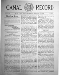 Sample The Canal Record front page