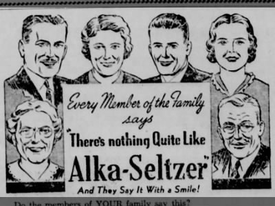 "Clip of the Day: Every Member of the Family says, ""There's nothing Quite Like Alka-Seltzer"""