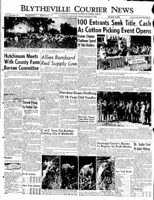 The Courier News from Blytheville, Arkansas on October 13, 1950 · Page 1