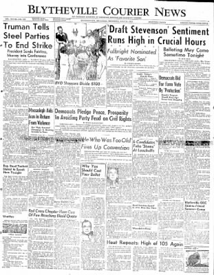 The Courier News from Blytheville, Arkansas on July 24, 1952 · Page 1