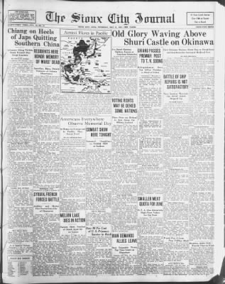 Sioux City Journal from Sioux City, Iowa on May 31, 1945 · 1