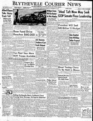The Courier News from Blytheville, Arkansas on November 22, 1952 · Page 1