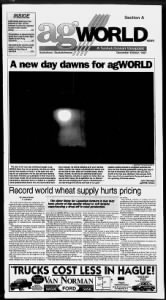 Sample Ag World News front page