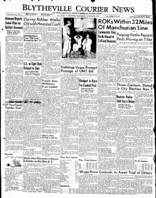 The Courier News from Blytheville, Arkansas on October 25, 1950 · Page 1