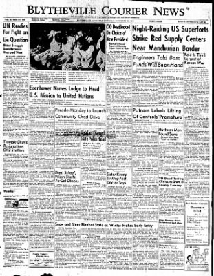 The Courier News from Blytheville, Arkansas on November 29, 1952 · Page 1