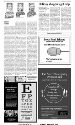 The South Bend Tribune From South Bend Indiana On November 22 2005 A6