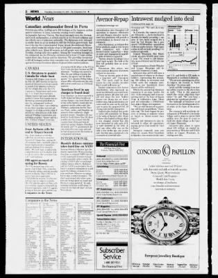 National Post From Toronto Ontario Canada On December 19 1996 2