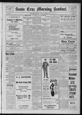 Santa Cruz Sentinel from Santa Cruz, California on April 7, 1904 · Page 1