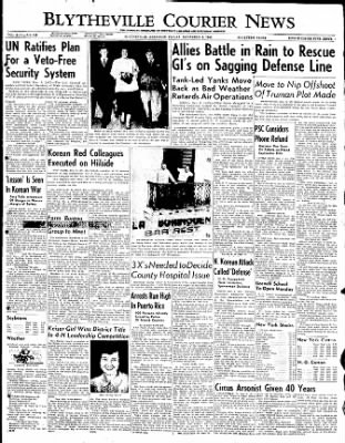 The Courier News from Blytheville, Arkansas on November 3, 1950 · Page 1