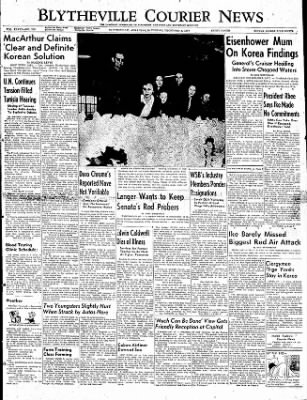 The Courier News from Blytheville, Arkansas on December 6, 1952 · Page 1