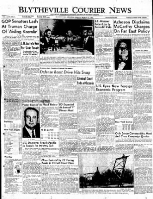 The Courier News from Blytheville, Arkansas on March 31, 1950 · Page 1