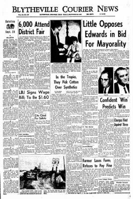 The Courier News from Blytheville, Arkansas on September 23, 1966 · Page 1