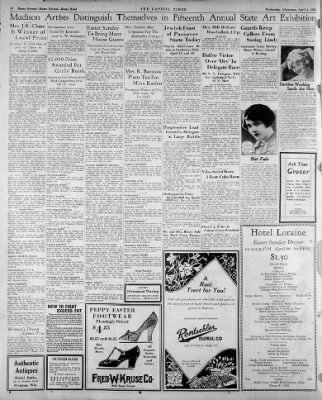 The Capital Times from Madison, Wisconsin on April 4, 1928 · 10