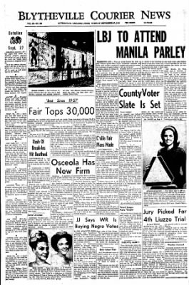 The Courier News from Blytheville, Arkansas on September 27, 1966 · Page 1